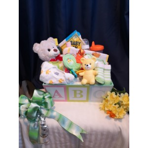 Basket of Joy Baby Gift Basket