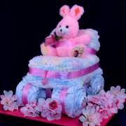 Baby Buggy Diaper Cake Gift Basket