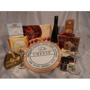Wine & Cheese Gourmet Wine Gift Basket