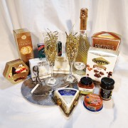 Slate Wine & Cheese Set Gourmet Gift Basket