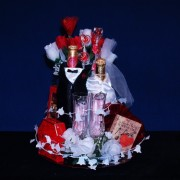 Bride & Grooms Honeymoon Gourmet Gift Basket #448
