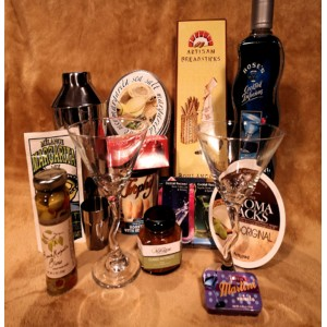 Cocktails Anyone?  Gourmet Gift Basket