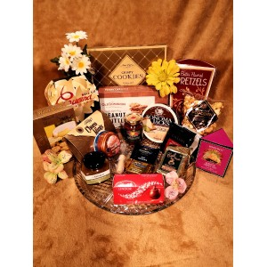 Delicious Snack Platter Gourmet Gift Basket