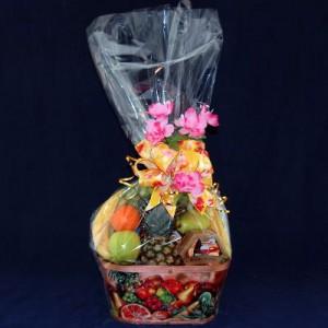 Cheese, Chocolate & Fruit Gift Basket