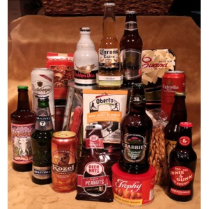 Around The World in Beers Gift Basket