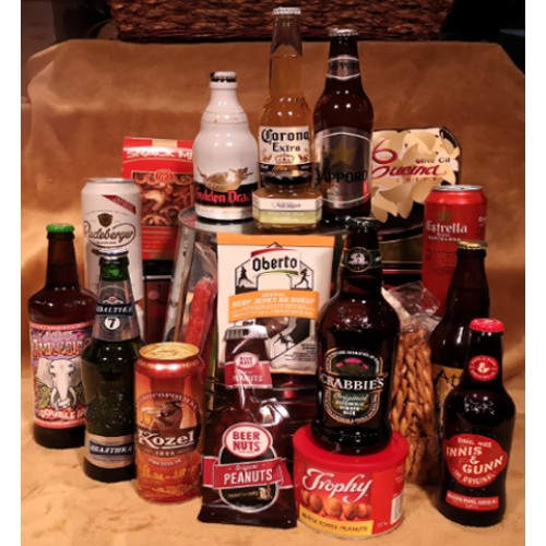 Around The World in Beers Gift Basket - Around The World in Beers --- X105