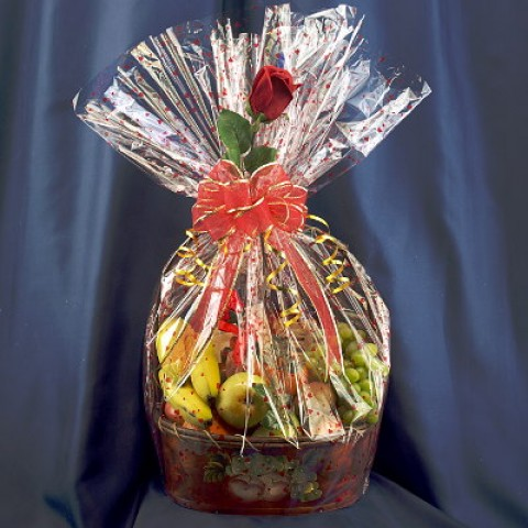 Cheese, Chocolate & Fruit Gift Basket