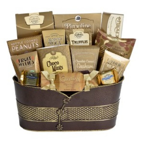 A Gold Choice Selection Gourmet Gift Basket