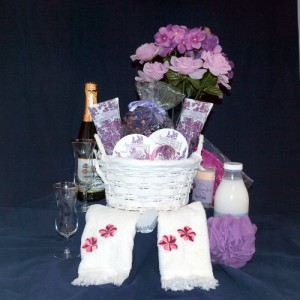 A Touch of Lavender Spa Gift Basket