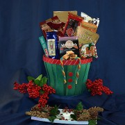Santa's Vest of Treats Gift Basket