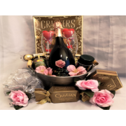 Celebrate Love Gourmet wine gift basekt