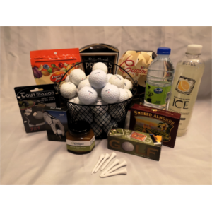 """""""Fore"""" the Golfer Gift Basket"""