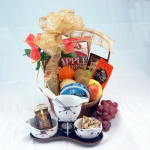 Fruit & Chocolate Fondue for Two Gourmet Gift Basket