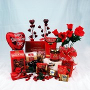 Happy Valentines Day Gourmet Gift Basket