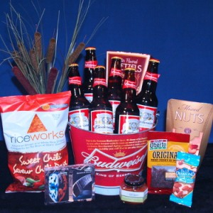 Hockey Night Gift Basket