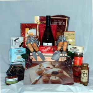 Wine & Cheese Gourmet Wine Gift Basket